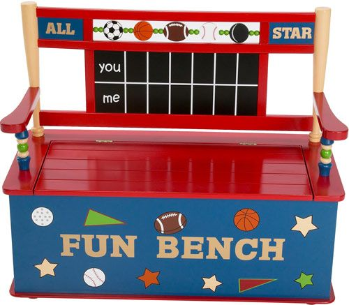Levels of Discovery All Star Sports Toy Box Bench by Levels Of Discovery at BabyEarth.com, $189.95
