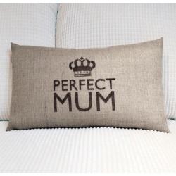 Perfect Mum cushion by Jennie Rawlings