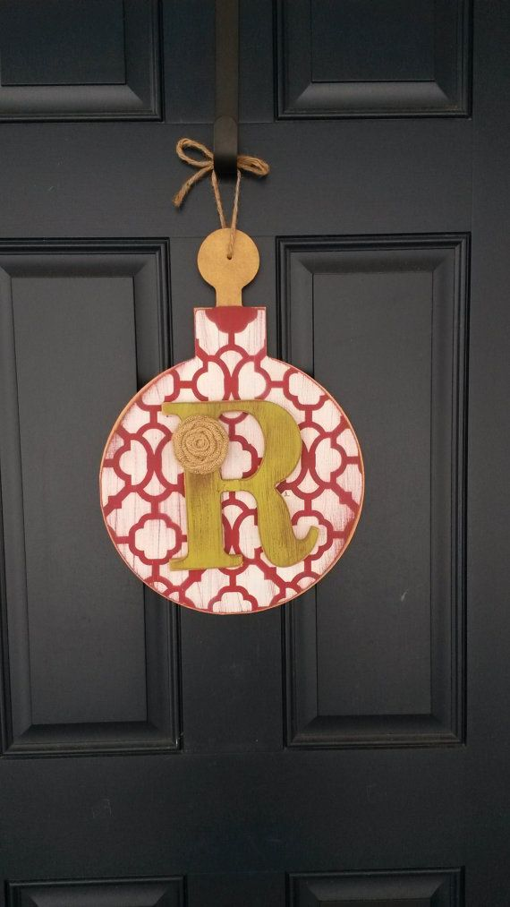 Christmas door decor Wood door decor with by BlessHerHeartDesigns