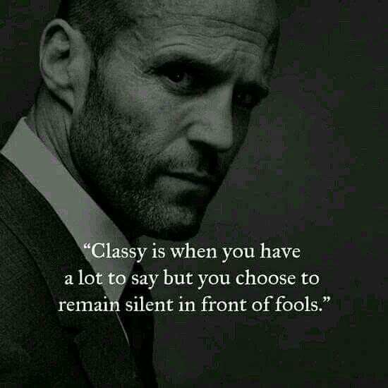 "I despise the word ""classy,"" but this is good advice."