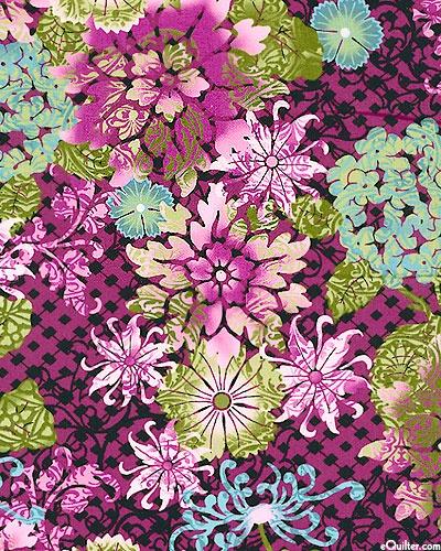 Eclectic Garden - Graphic Floral Overlays - Magenta