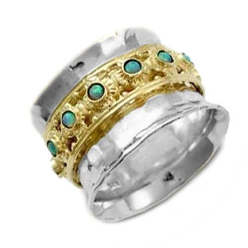 Opal ring ring spinner ring Boheemse ring zigeuner door artisanlook