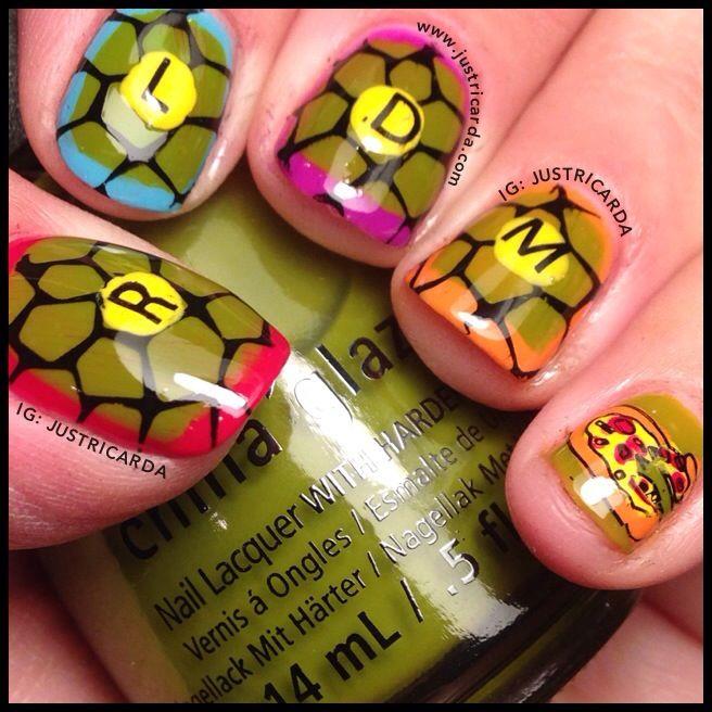 TMNT nails / Teenage Mutant Ninja Turtle nails / Halloween nails / Rica / www.justricarda.com