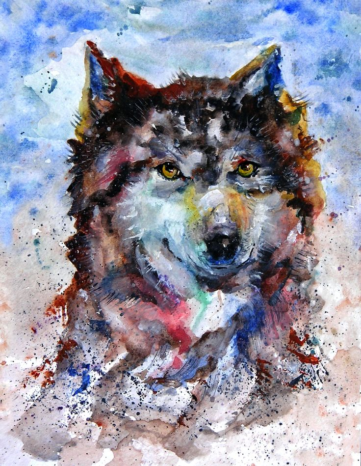 Call Of The Wild Watercolor Wolf By Carla Mora Amimals