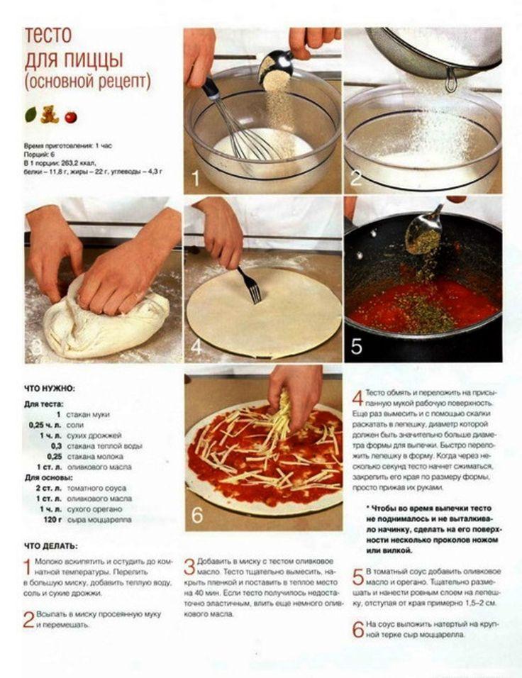 Тесто для пиццы рецепт приготовления с фото существует