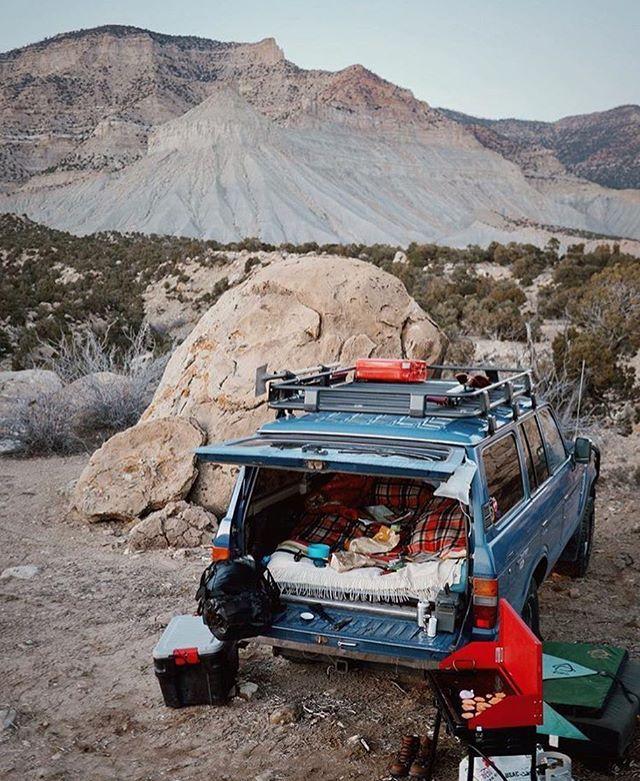 Road Trip.. Car camping Comfortable sheets Gravel