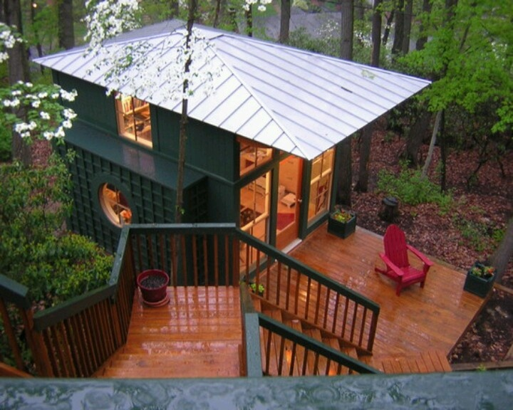 Low Pitch Metal Roof Backyard Studio Pinterest Small
