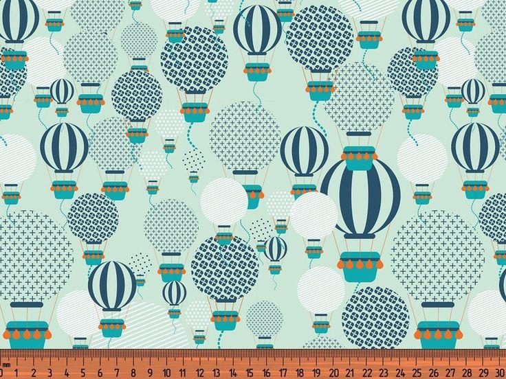 Kinderstoffe - Jersey Ballon mint - ein Designerstück von stickmuckel-DIY bei DaWanda
