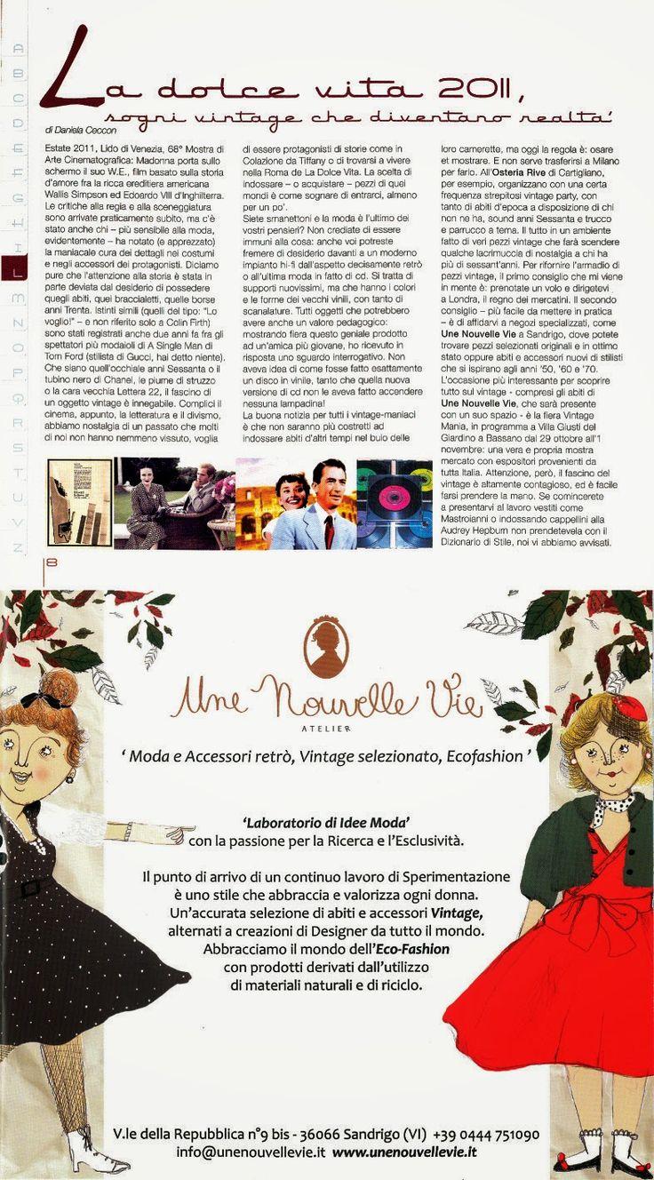 """Une Nouvelle Vie@""""Dizionario di Stile""""_Ottobre 2011"""
