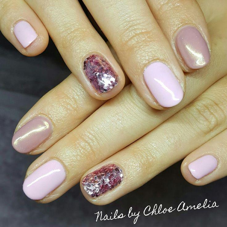 Pink nails- Calgel Manicure
