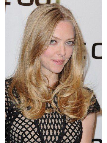Amanda Seyfried Long Lace Front Wavy Remy Human Hair Wig