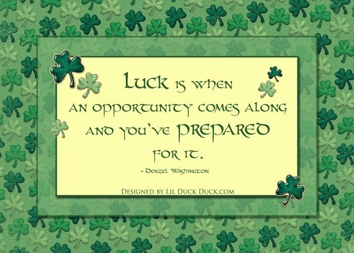 irish shamrock quote for march st patrick 39 s day luck