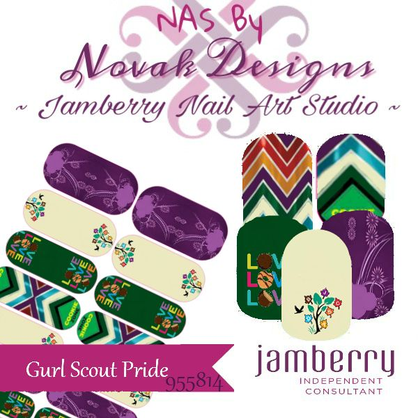 Girl Scout Inspired Jamberry NAS Designs by Novak Designs.  You can purchase these direct at the link provided.