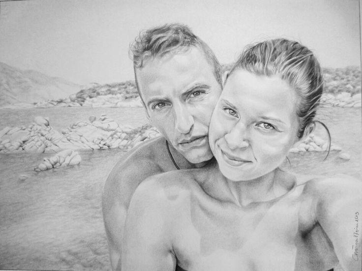 Portrait, chiaroscuro, pencils on paper.  www.facebook.com/limaelabor  #draw #drawing #pencils #art #chiaroscuro #portrait