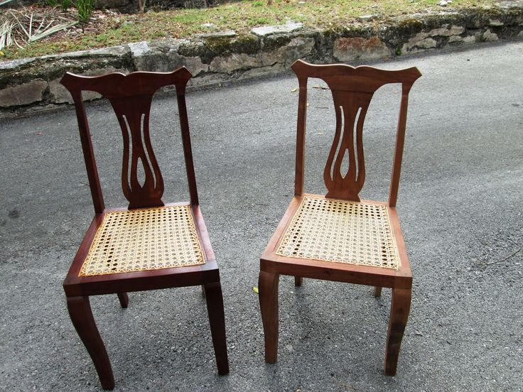 caned bottom dining chairs