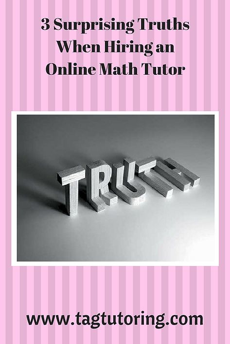 3 Surprising Truths When Hiring an Online Math Tutor | Online Math Tutor|Precalculus Topics|www.tagtutoring.com #mathtutoring