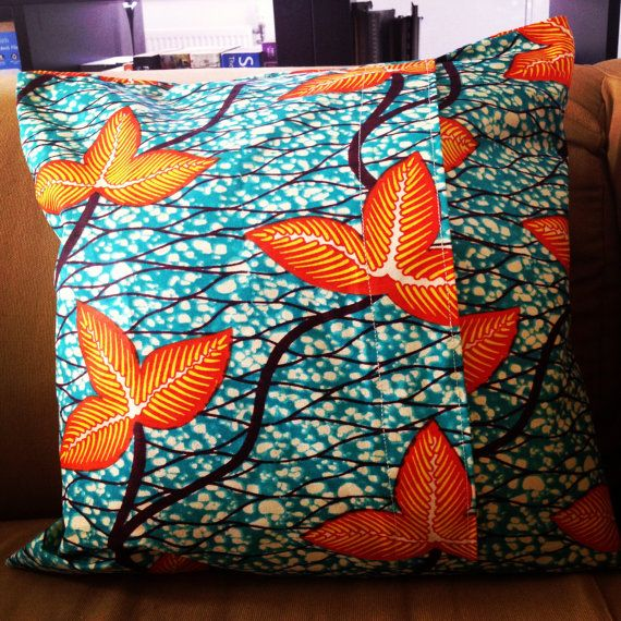 Handmade African Wax Print 16 Pillow Cushion Cover