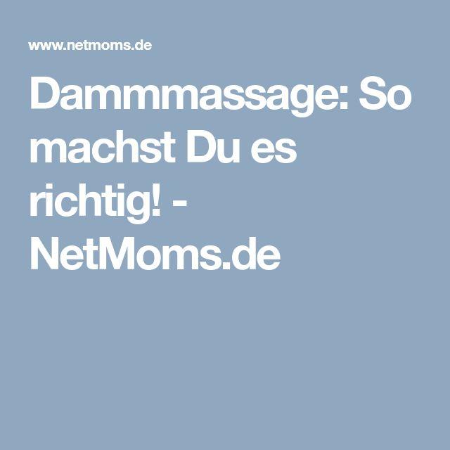 Dammmassage: So machst Du es richtig! - NetMoms.de