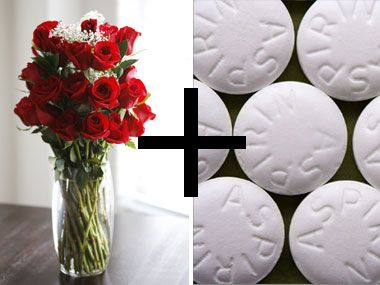 Aspirin It's a tried-and-true way to keep roses and other cut flowers fresh longer: Put a crushed aspirin in the water before adding your flowers. Also, don't forget to change the vase water every few days.
