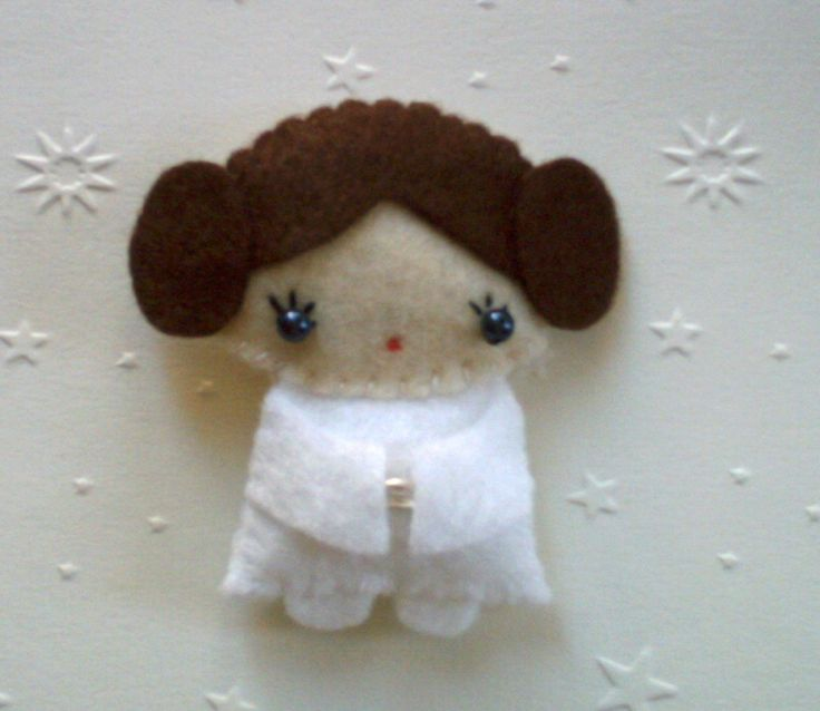 Star Wars Princess Leia doll felt brooch accessory. $30.00, via Etsy. by Lafeecrochette