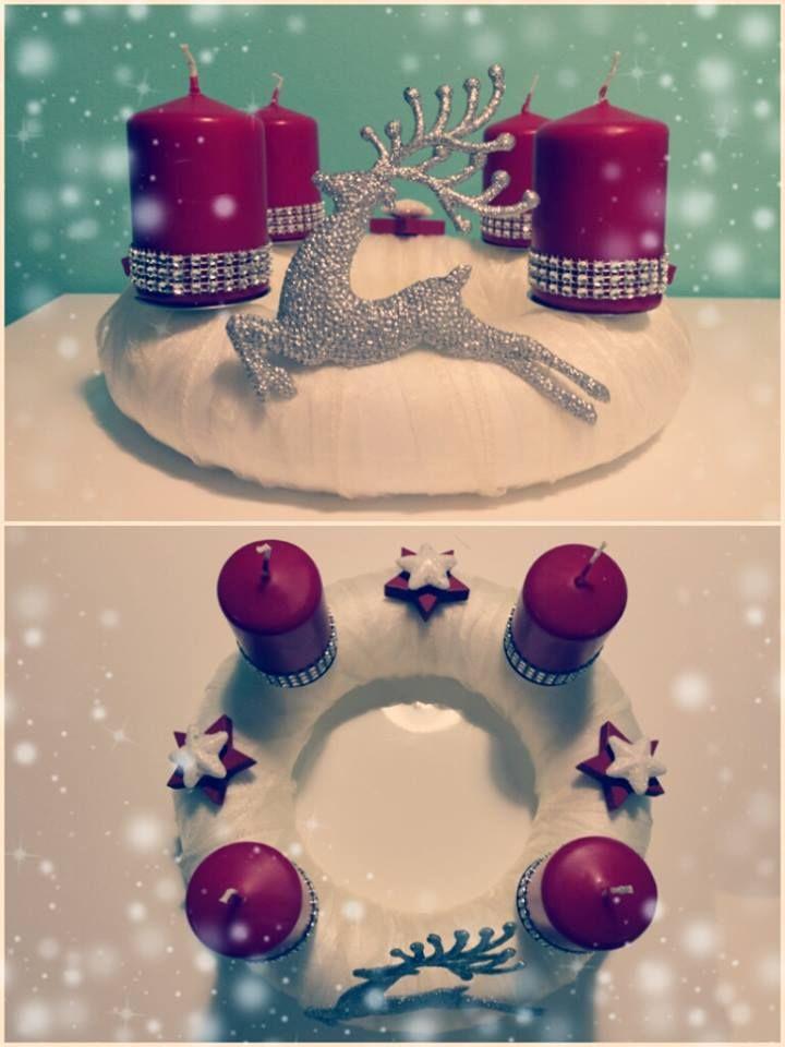 "Adventní věnec ""Jelen2""  (Advent wreath ""Deer2"")"