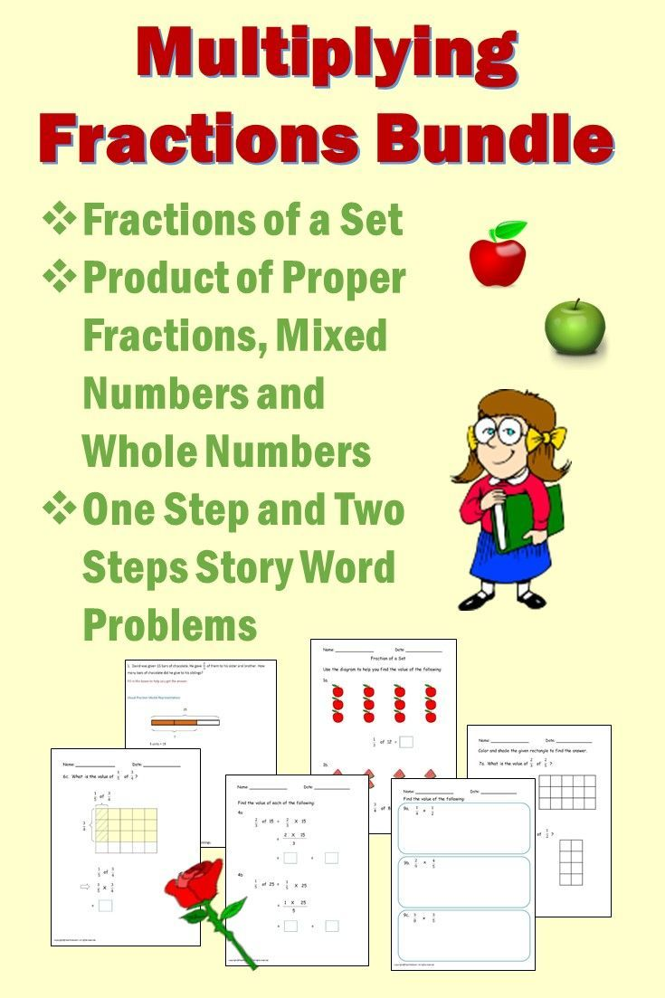 All In A Pack Multiplying Of Fractions Topics Students Need To Learn Visual Fracti Fractions Worksheets Multiplying Fractions Worksheets Multiplying Fractions