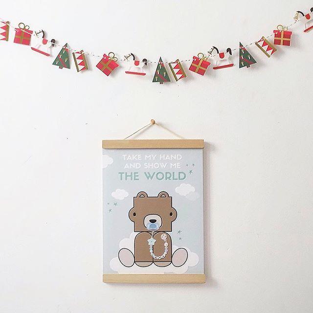 Christmas mood 24/7 ✨🎄✨🎄✨ #christmasgiftideas #babyroom #poster