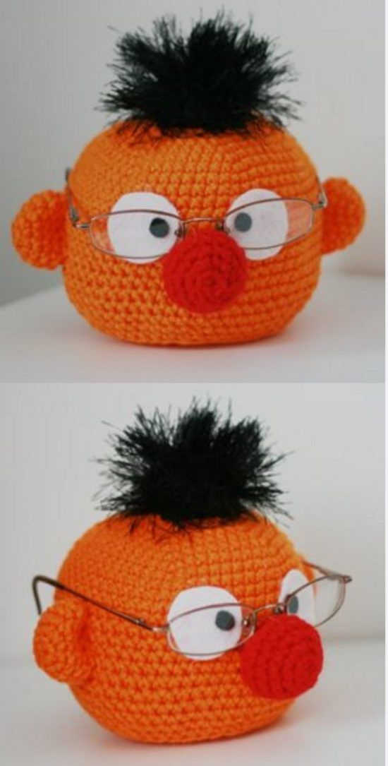Crochet Muppet Glasses Holder Free Patterns