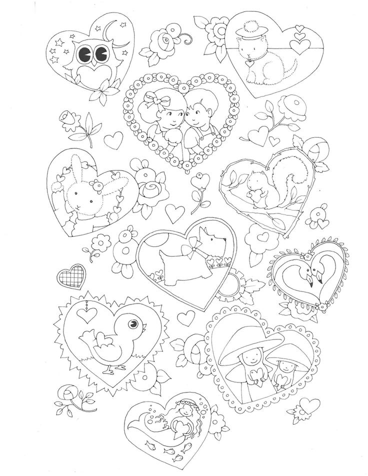 b m valentines day printable coloring pages - photo #28