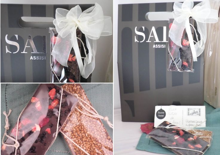 SAIO gift box for 3 bottles and special greetings card. Handmade chocolate becomes a greetings card for your friends.
