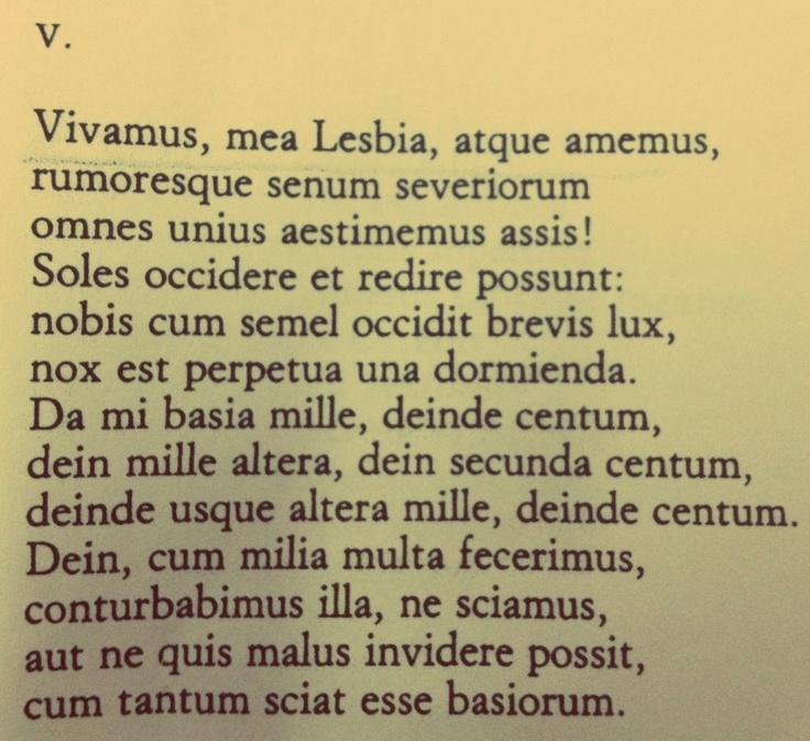 Catullo, Carme V