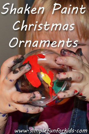 Shaken Paint Christmas Ornaments - Simple Fun for Kids