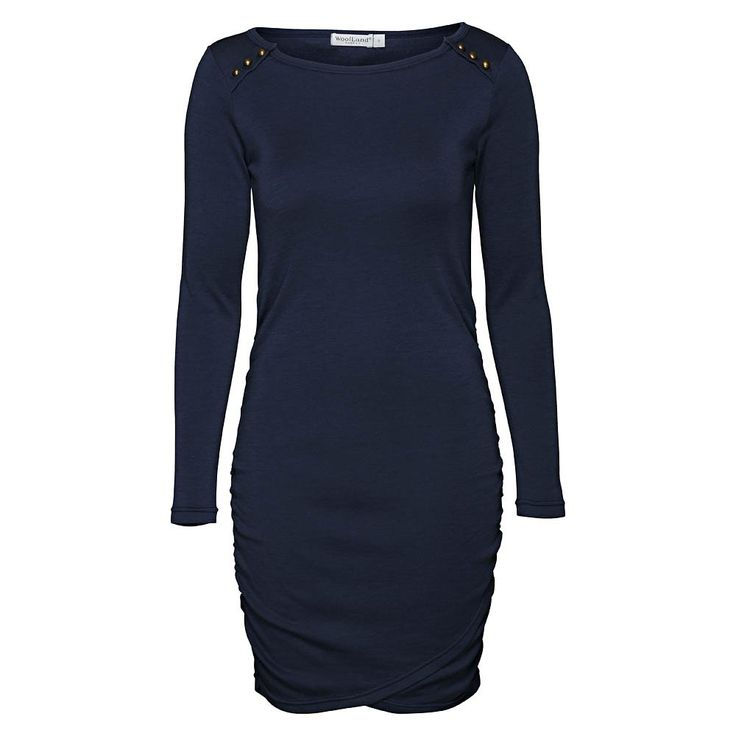 Casual wool-dress, perfect for work! ULLKJOLE DAME BUKKEHØI, Night Blue
