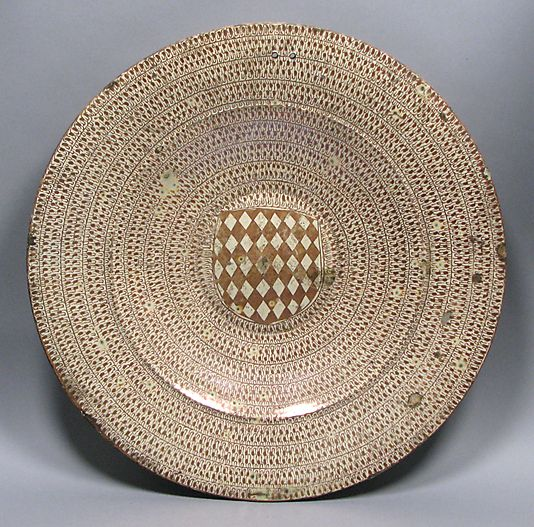 Dish, late 15th century, probably made in Manises, Valencia, Spain. Tin-glazed earthenware.