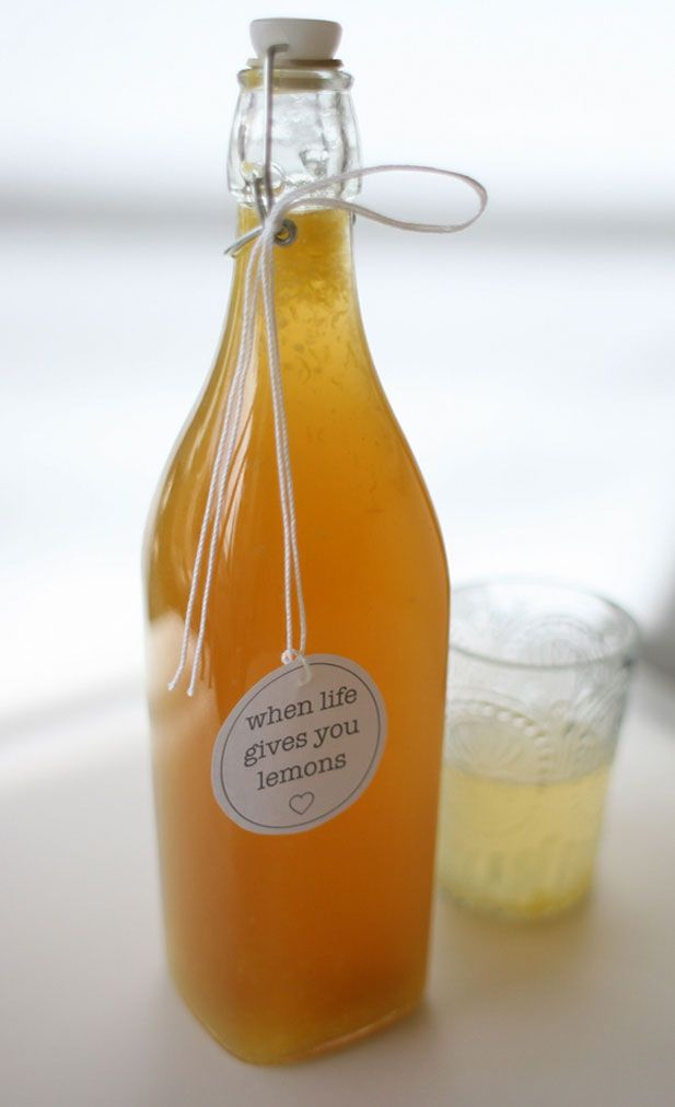 Homemade lemon cordial - Sounds like a great syrup for drinks and stuff.