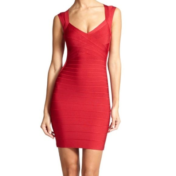 Lipstick Red Herve Leger bandage dress Herve Leger size small, lipstick red bandage dress. Brand new with tags, never worn. Please feel free to make a serious offer. No trades. If you have additional questions or would like more photos feel free to contact me at lizajoyce97@gmail.com. Thank you! Herve Leger Dresses