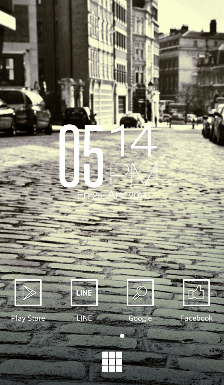 [LINE DECO] London on sunny day :) Simple homescreen decorated with sentimental wallpaper! ★ In this screen ★ Deco Pack : Pure Black Wallpaper : London on sunny day