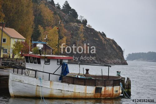 """Download the royalty-free photo """"Boat at Kvarsebo village, Sweden"""" created by Ciaobucarest at the lowest price on Fotolia.com. Browse our cheap image bank online to find the perfect stock photo for your marketing projects!"""