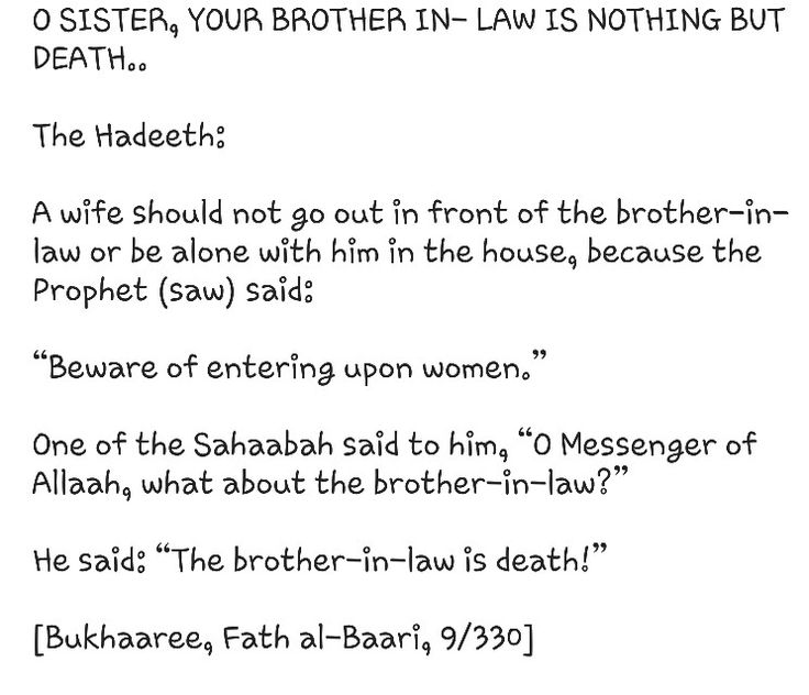 relationship with brother in law islam