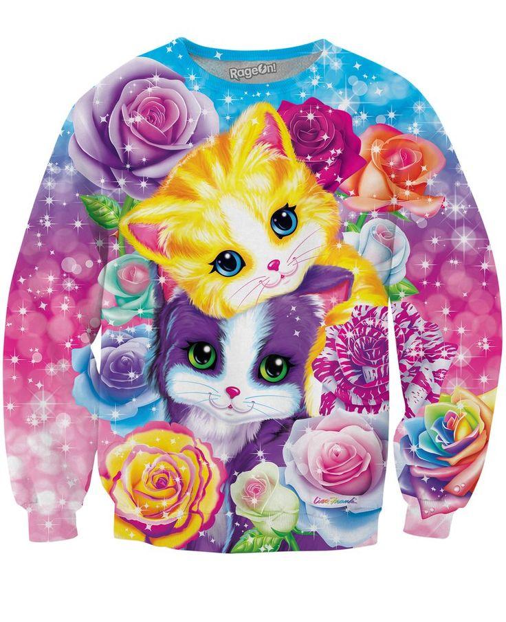 Lisa Frank Kitten Roses Sweatshirt