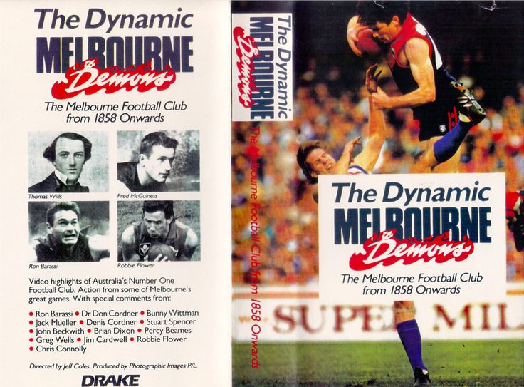 The Dynamic Melbourne Demons - VHS Video Tape Front & Back Cover