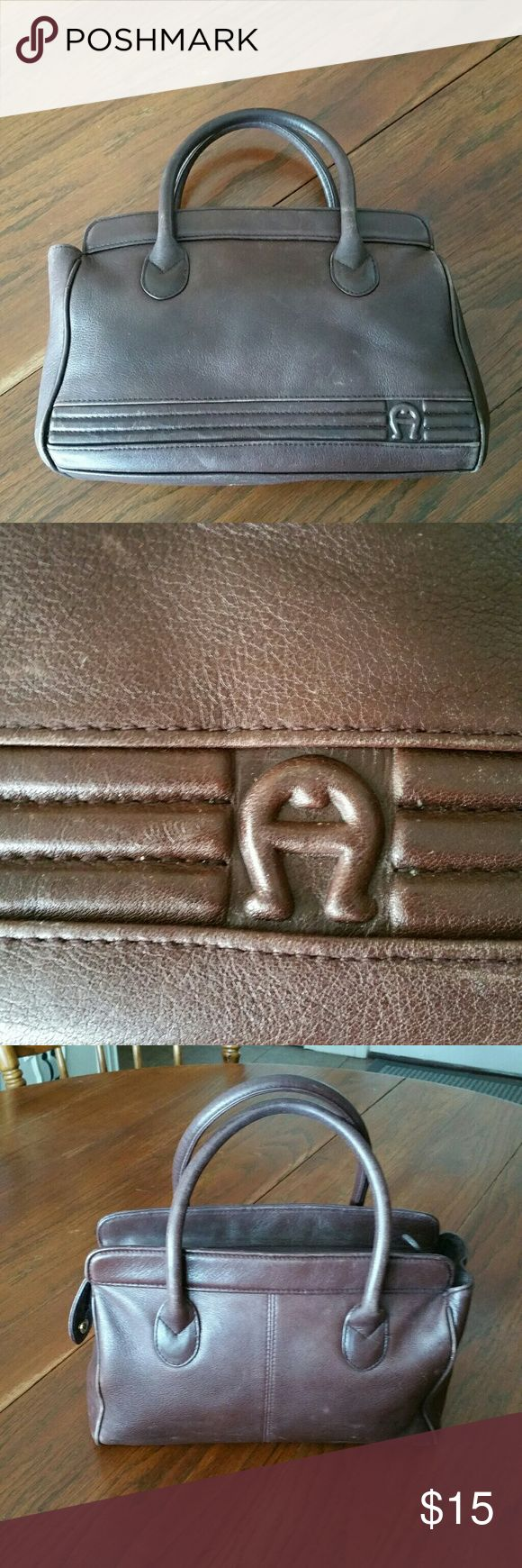 Etienne Aigner Vintage soft Leather satchel Good condition,  genuine leather handbag by Etienne Aigner. Measures about 12 x 8 x 4 with handle drop of 4 inches. Super soft leather. Etienne Aigner Bags