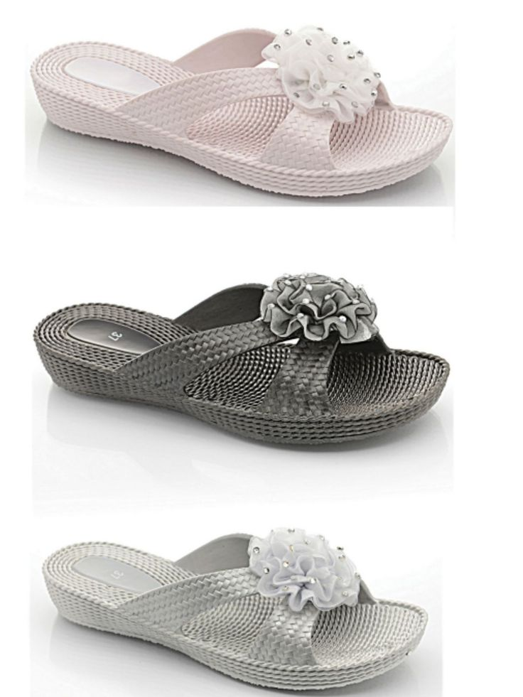 Ladies Girls Peep Toe Jelly Flower Flip Flops Mules Comfort Summer Beach Sandal | eBay