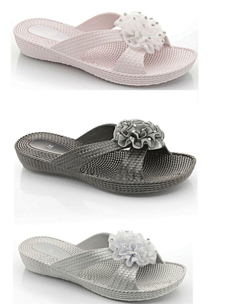 Ladies Girls Peep Toe Jelly Flower Flip Flops Mules Comfort Summer Beach Sandal | eBay