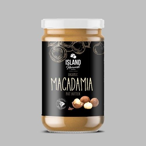 Create An Organic Macadamia Nut Butter Label For Hawaii Farm Product Label Contest Winning Design Product Trump With Images Macadamia Nuts Macadamia Nut Butter Macadamia