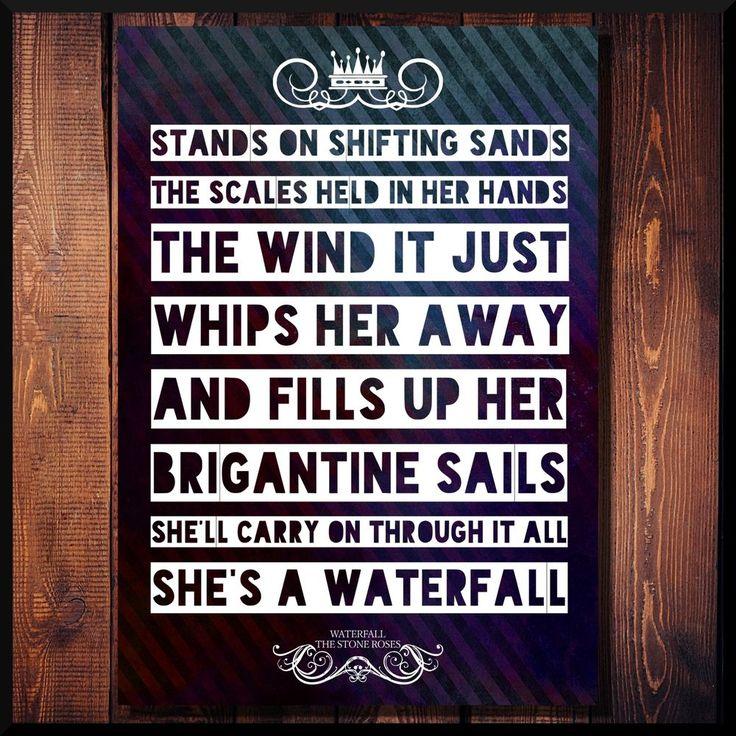 The Stone Roses Waterfall Indie Rock Music Lyrics Poster Print Wall Art Gift in Music, Music Memorabilia, Rock | eBay #stoneroses #thestoneroses  #ianbrown #rock #indie #mod #90s #oasis #britpop #musiclyrics #musicposter #design #buxcreations #rocknroll #ukmusic #ebay #rockmusic #lyricsposter #typography