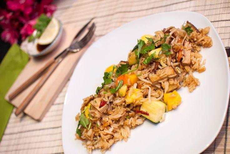 vegansk stekt ris oppskrift