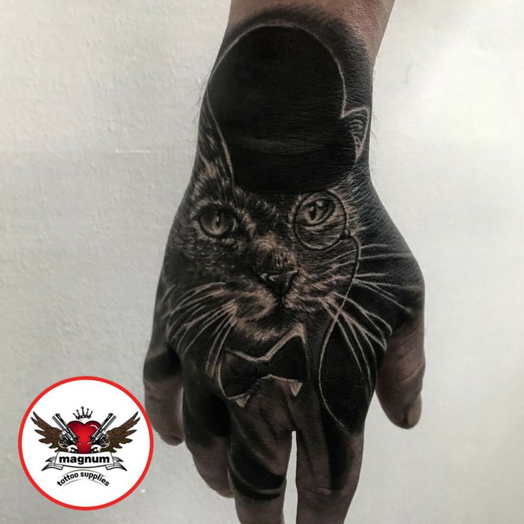 Scott Edward Tattoo Artist made this awesome #cat piece done with #magnumtattoosupplies
