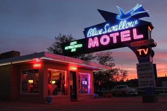 The Blue Swallow Motel, Tucumcari, New Mexico...part of historic Route 66
