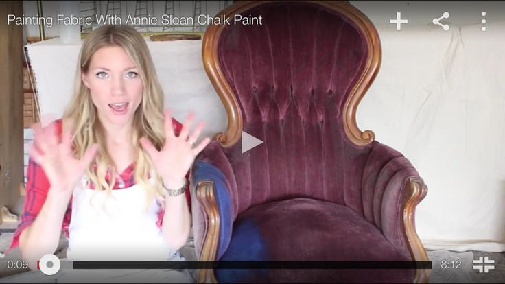 Painting upholstery with chalk paint for buttery smooth feel.